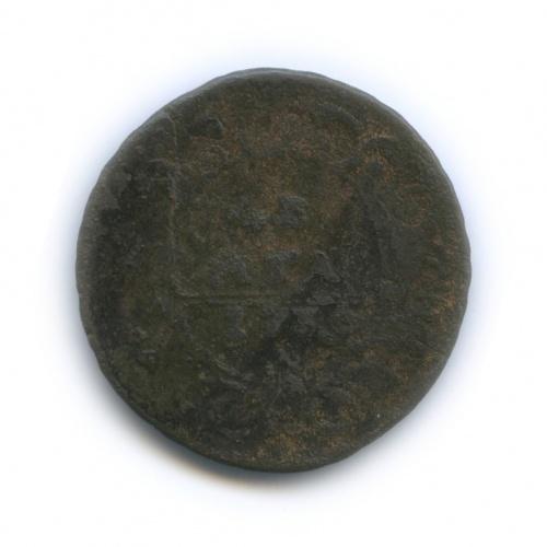 Денга (1/2 копейки), перечекан 1730 года (Российская Империя)