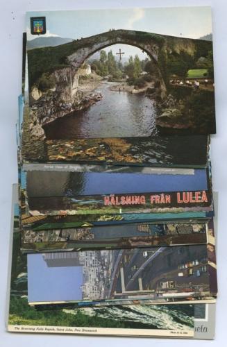 Набор открытых писем «Мосты» (33 шт., разные страны)