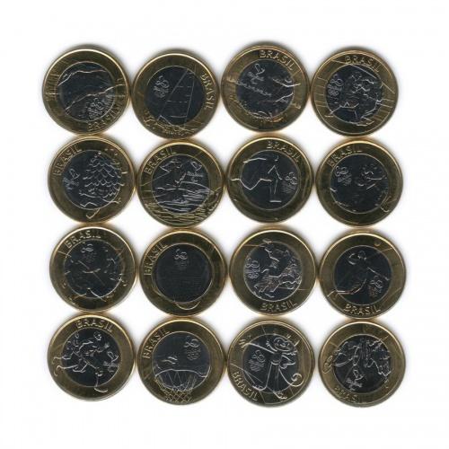 Набор монет 1 реал - Олимпийские Игры, Рио-де-Жанейро 2016 2014-2016 (Бразилия)