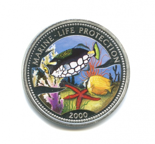 10 франков - Защита морской жизни (Конго, вфутляре, серебро 900 пробы, ссертификатом) 2000 года