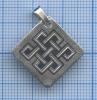 Подвеска «Славянский узор» (серебро 925 пробы, «северная чернь», 2,65 гр)