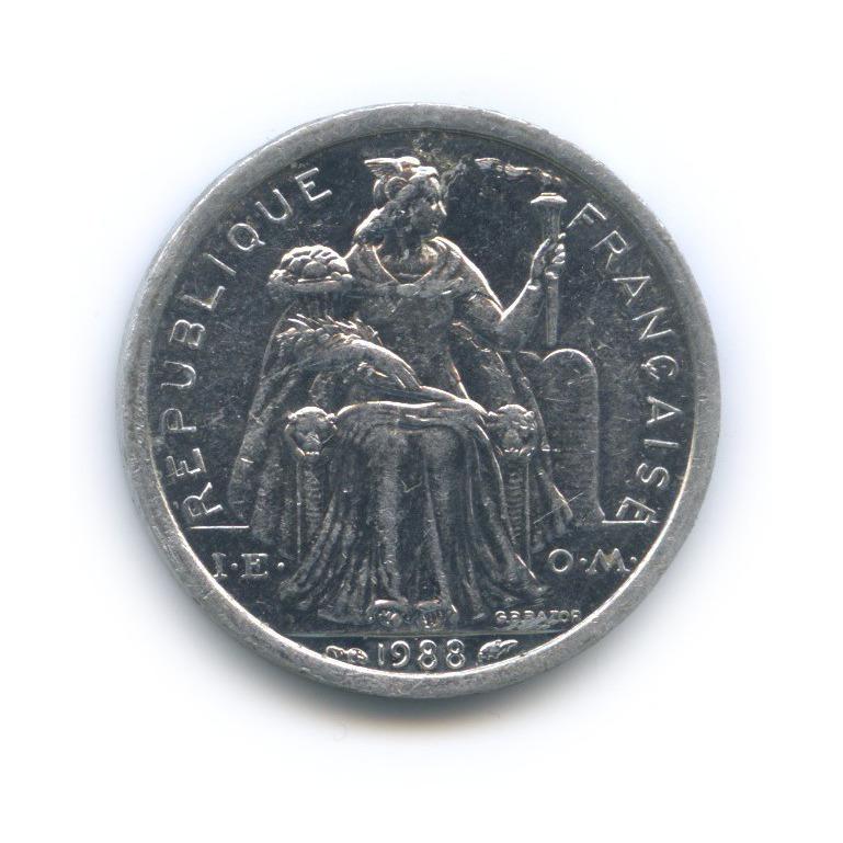 1 франк, Новая Каледония 1988 года