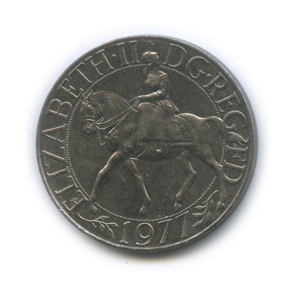 25 пенсов (крона)— Cеребряный юбилей царствования ЕлизаветыII 1977 года (Великобритания)