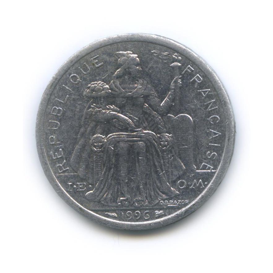 2 франка, Новая Каледония 1996 года