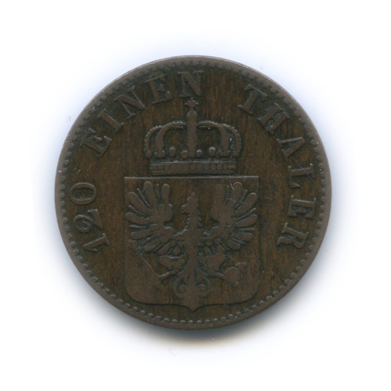 3 пфеннига, Пруссия 1852 года А