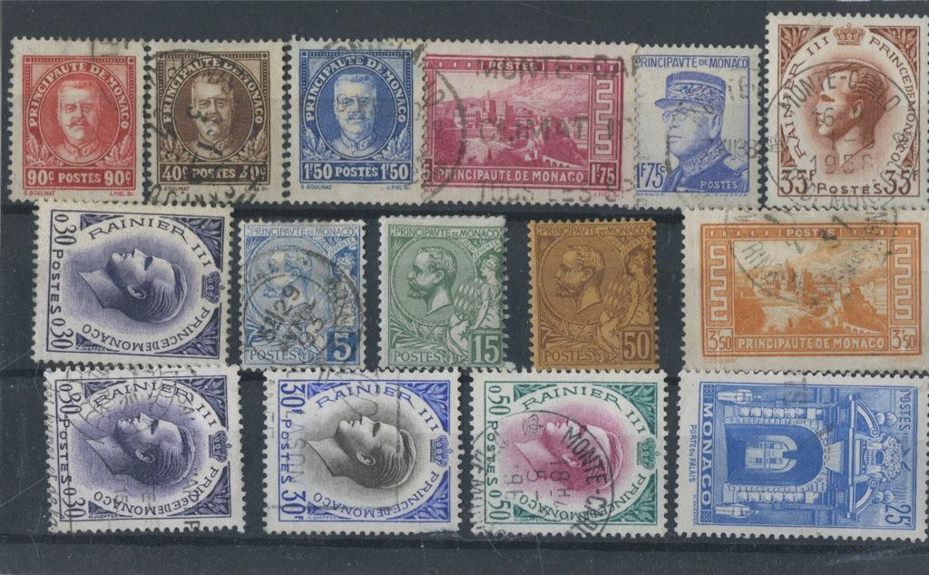 Набор почтовых марок (Монако)