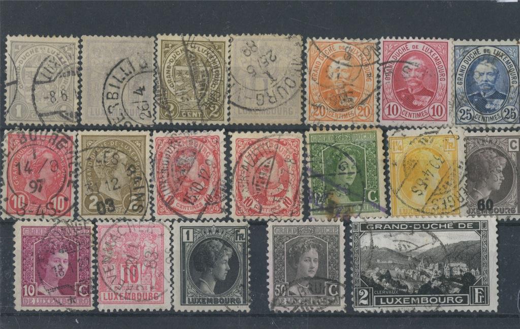 Набор почтовых марок (1884−1900 годы) (Люксембург)