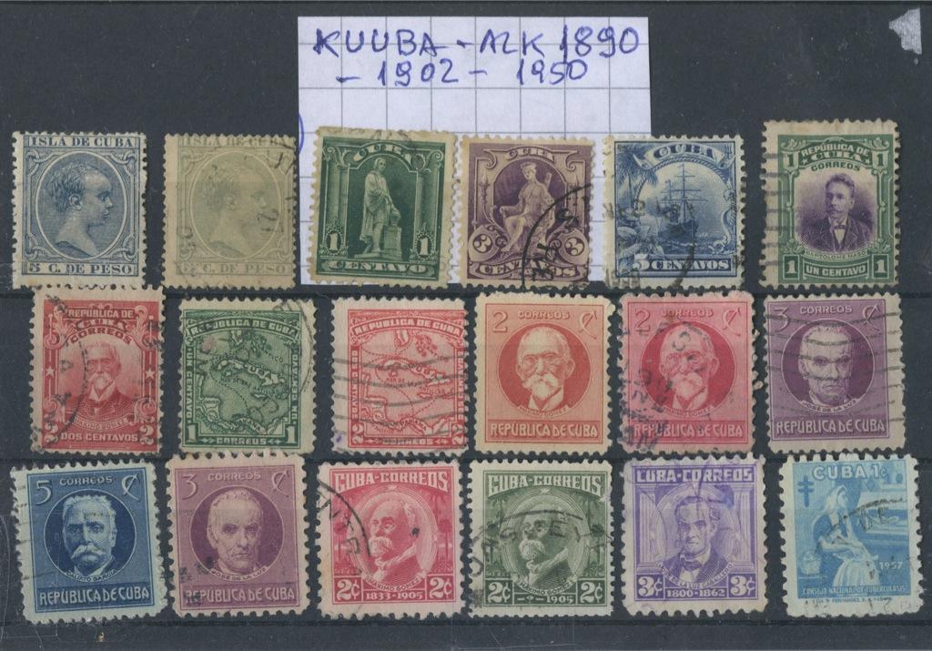 Набор почтовых марок (1902−1950 годы) (Куба)