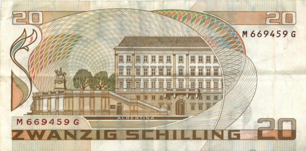 20 шиллингов 1986 года (Австрия)