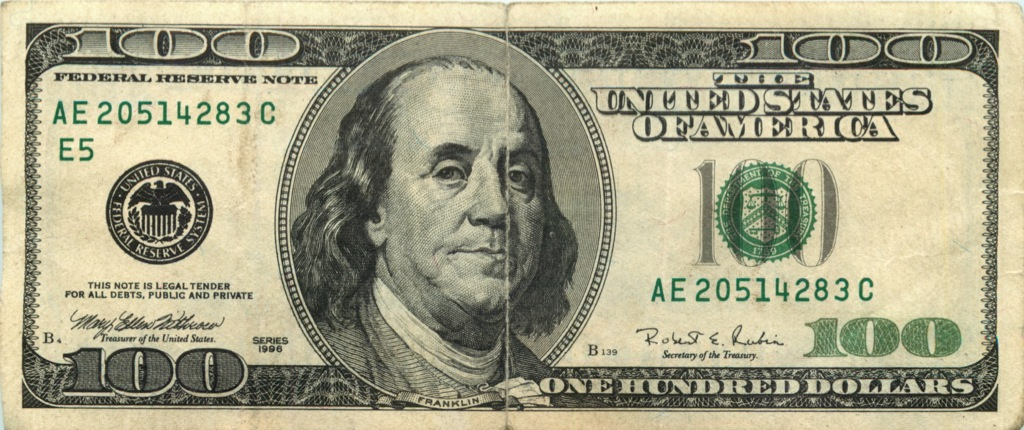 100 долларов 1996 года (США)