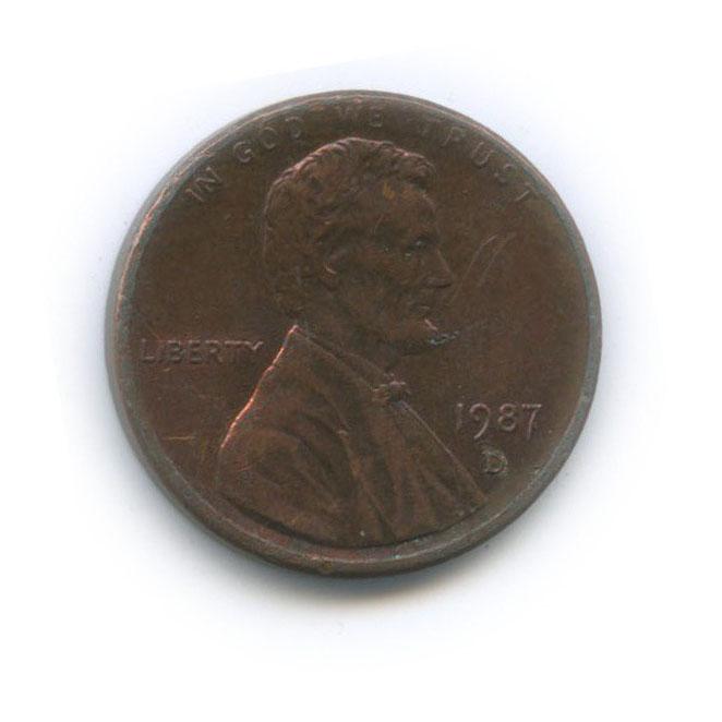 1 цент 1987 года D (США)