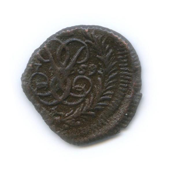 Полушка (¼ копейки), брак— край листа 1759 года (Российская Империя)