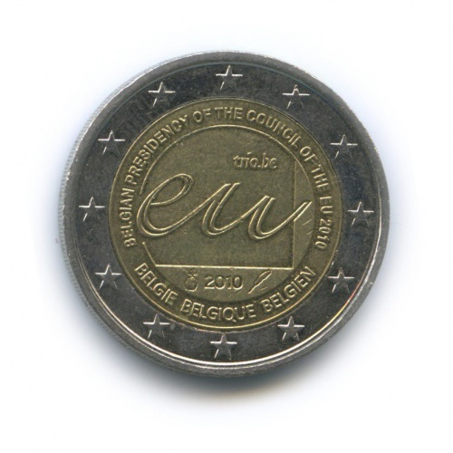 2евро— Председательство Бельгии вЕвропейском Союзе 2010 года (Бельгия)