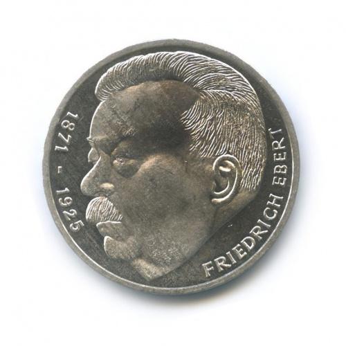 5 марок— 50 лет содня смерти Фридриха Эберта 1975 года (Германия)