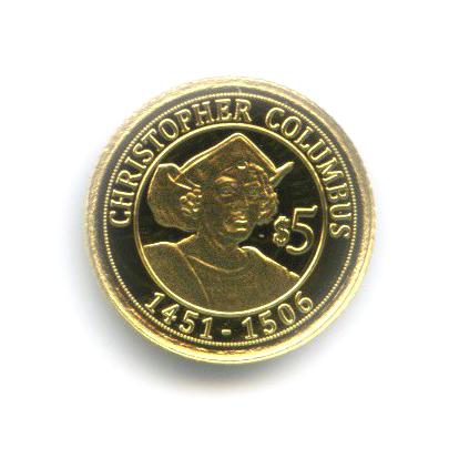 5 долларов— Христофор Колумб, Науру 2010 года