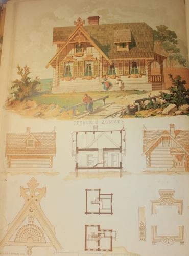 Книга «Хозяйственный строитель», Санкт-Петербург (счертежами ииллюстрациями, 207 стр., 27×36 см) 1878 года