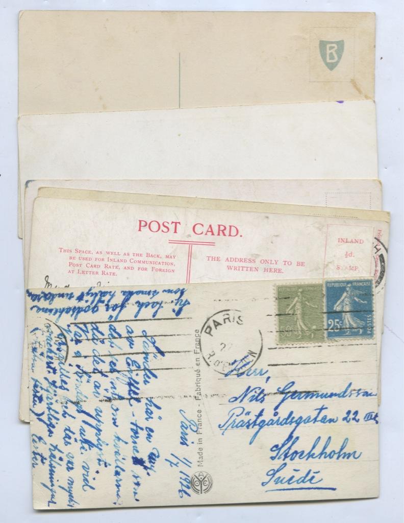 Набор почтовых карточек (6 шт., разные страны)