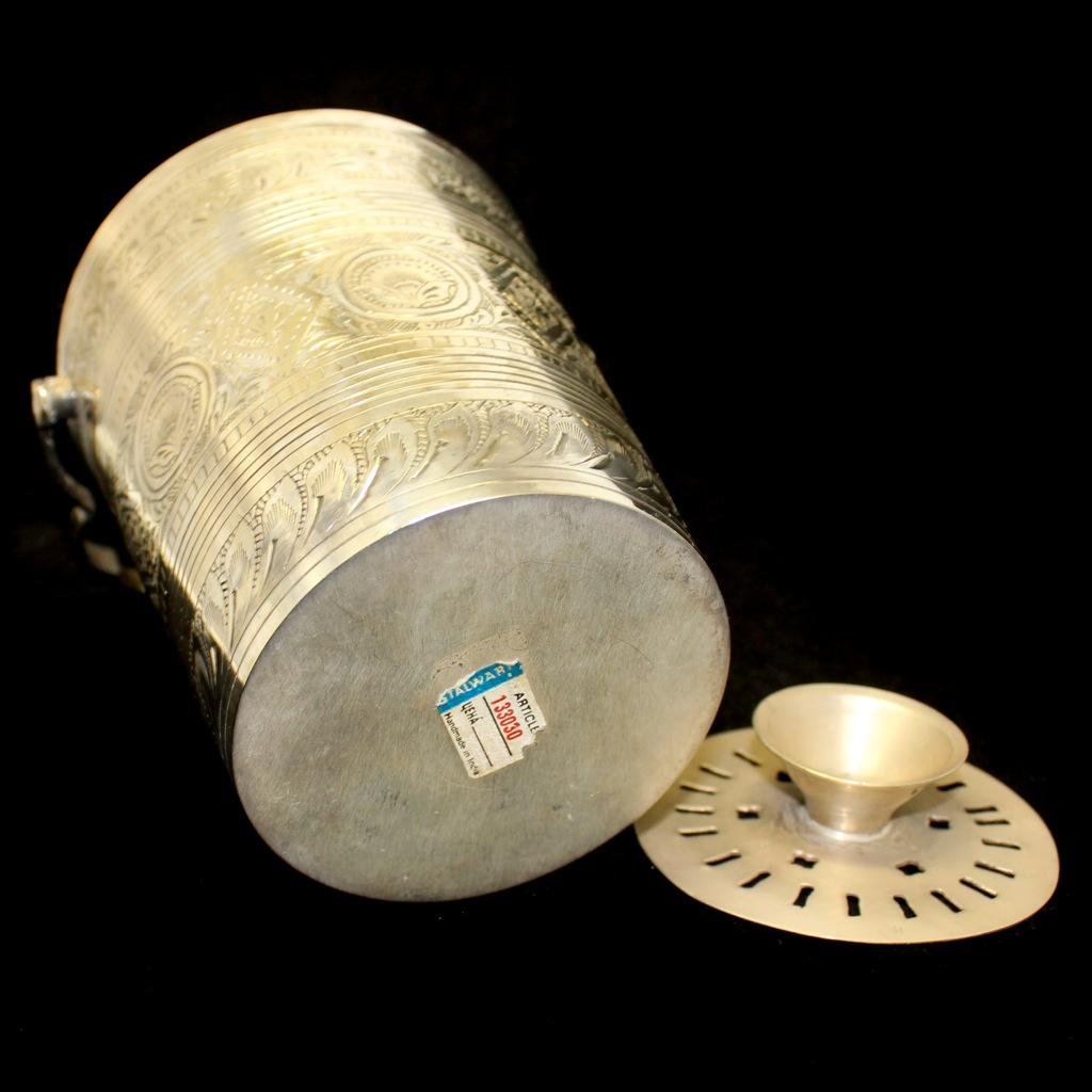 Ведерко для фондю (латунь, серебрение, 14,5см, 1980-е гг.) (Индия)