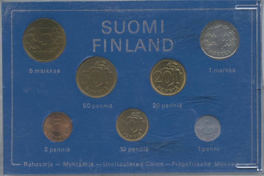 Набор монет (вфутляре) 1974 года (Финляндия)