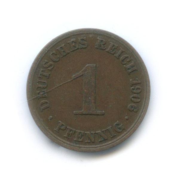 1 пфенниг 1906 года A (Германия)
