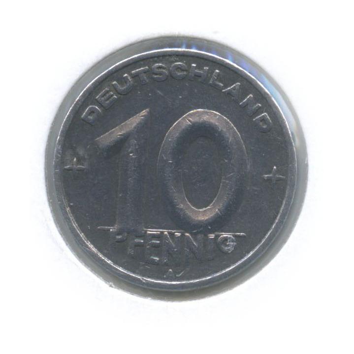 10 пфеннигов (в холдере) 1948 года (Германия (ГДР))