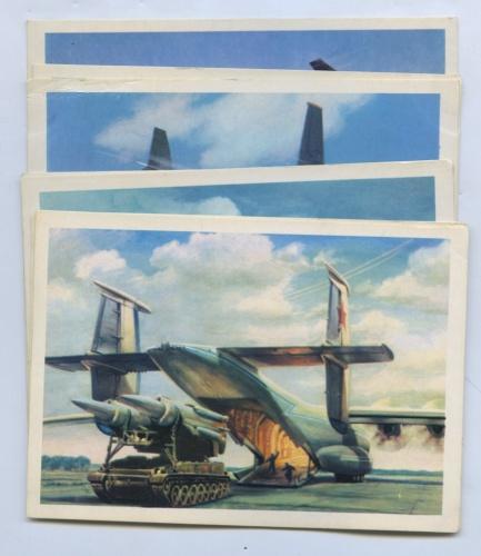 Набор открыток «Самолеты» (8 шт.) 1979 года (СССР)