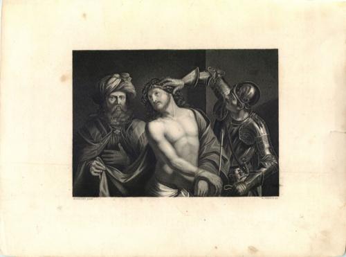 Гравюра «Guercino— W. French Sc.» (Франция)