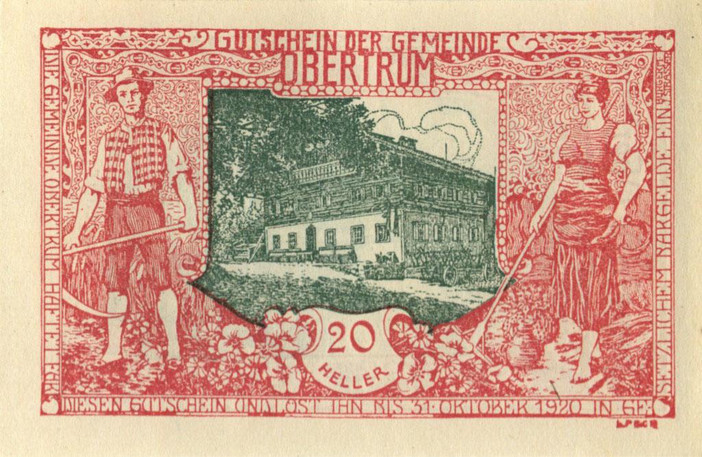 20 геллеров (нотгльд) 1920 года (Австрия)