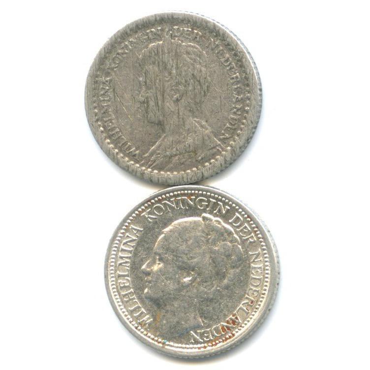 Набор монет 10 центов 1911, 1937 (Нидерланды)