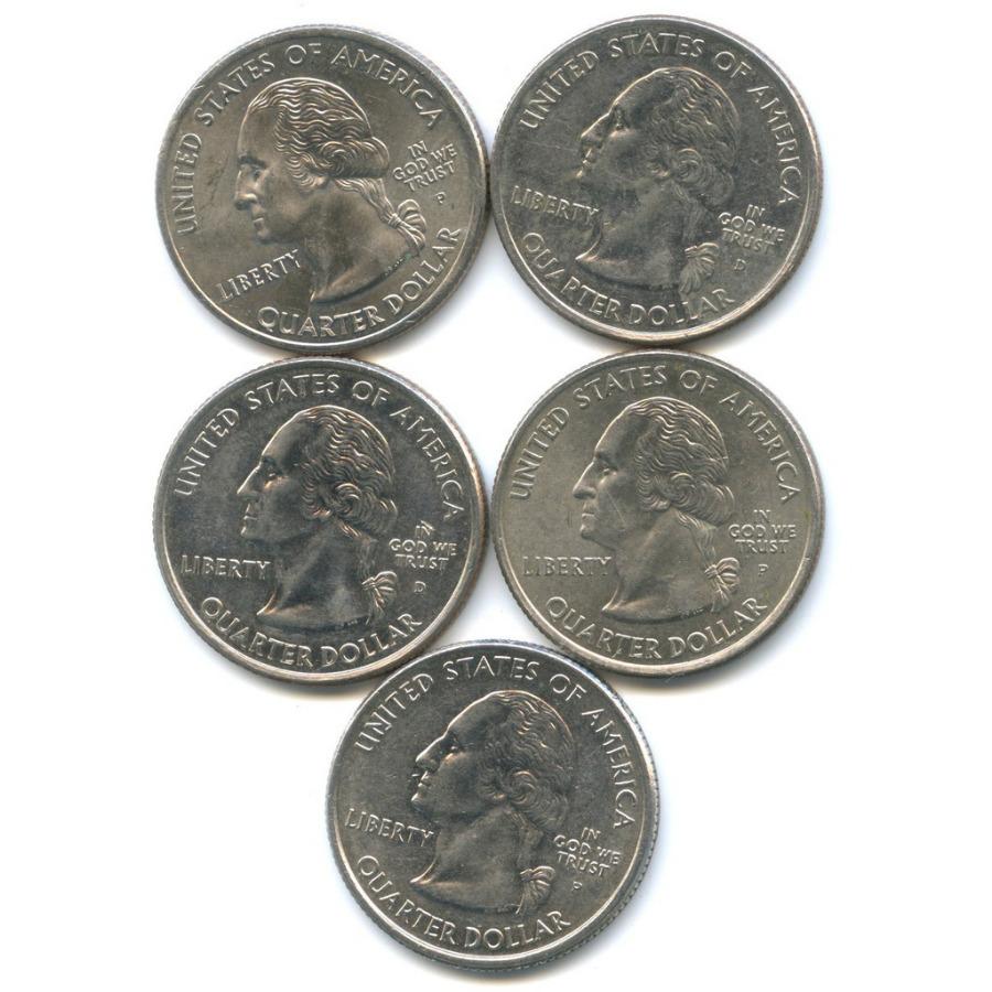 Набор монет 25 центов (квотер) - Штаты итерритории 2005 года P, D (США)