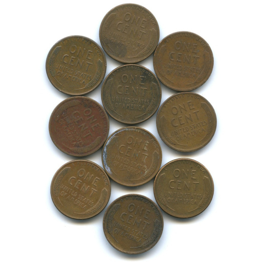 Набор монет 1 цент (США)