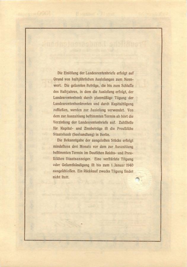 1000 рейхсмарок 1940 года (Германия (Третий рейх))
