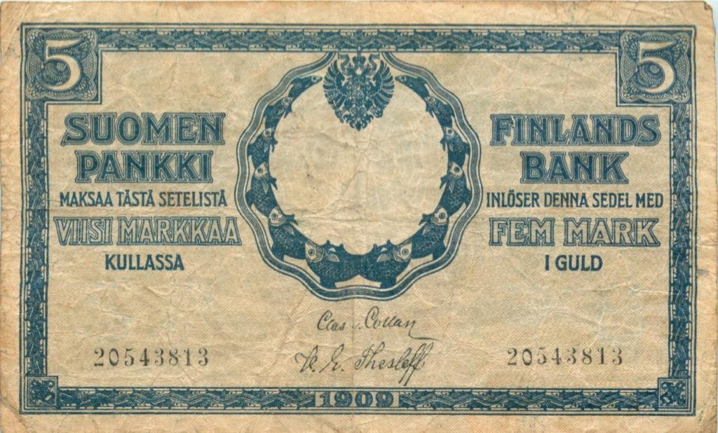 5 марок 1909 года (Финляндия)