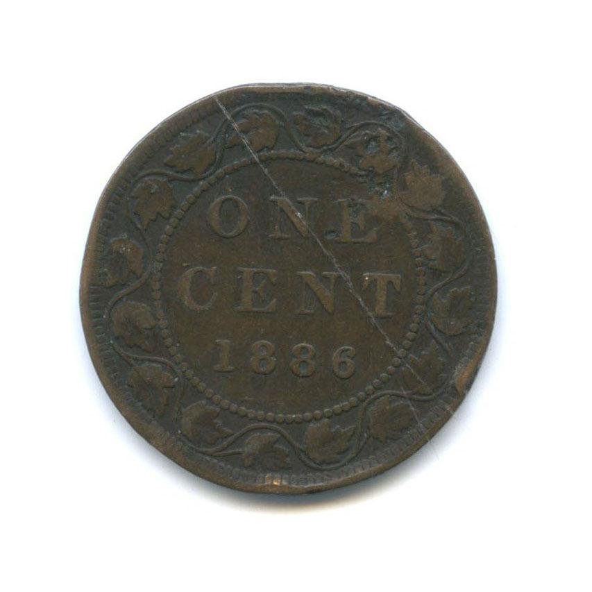 1 цент - Королева Виктория 1886 года (Канада)