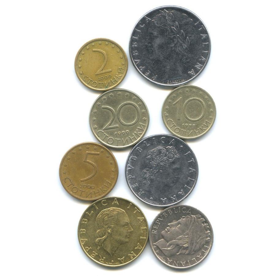 Набор монет (Болгария, Италия)