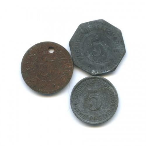 Набор монет 5 пфеннигов (нотгельд) (Германия)