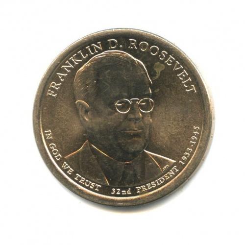 1 доллар — 32-ой Президент США - Франклин Рузвельд (1933-1945) 2014 года (США)