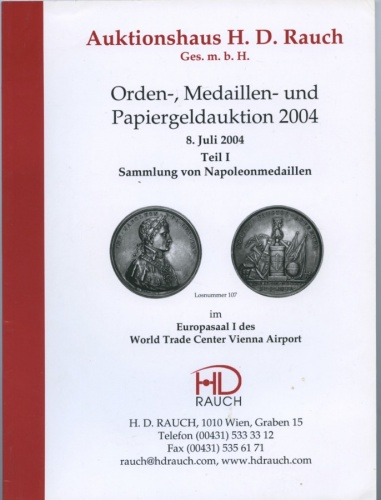 Каталог аукциона «Auktionshaus H. D. Rauch», Вена, 158 стр. 2004 года (Австрия)