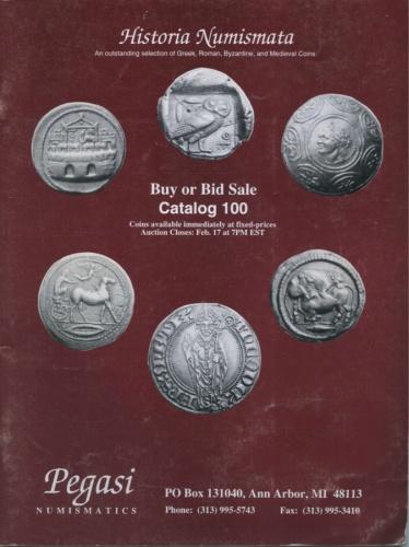 Каталог аукциона нумизматики №100 «Historia Numismata», Энн-Арбор, 52 стр. (США)