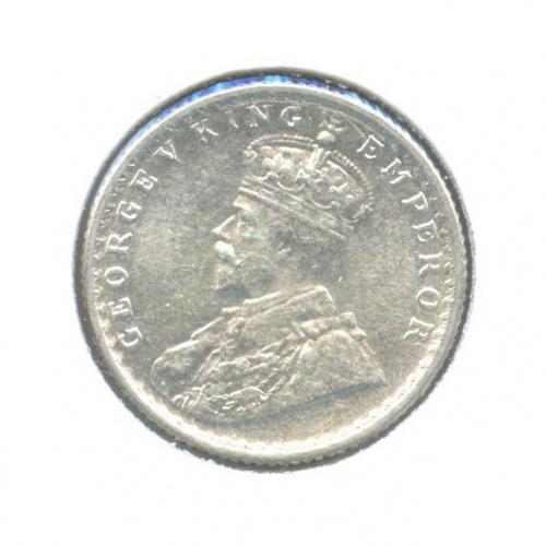 1/4 рупии, Британская Индия (в холдере) 1918 года