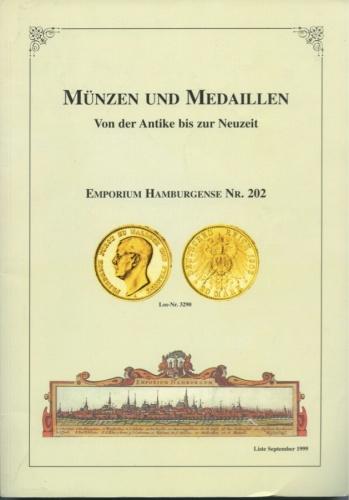 Каталог аукциона нумизматики «Munzen Und Medaillen», Гамбург, 168 стр. 1999 года (Германия)