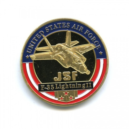 Жетон «JSF F-35 Lightning II», вцвете (под золото)