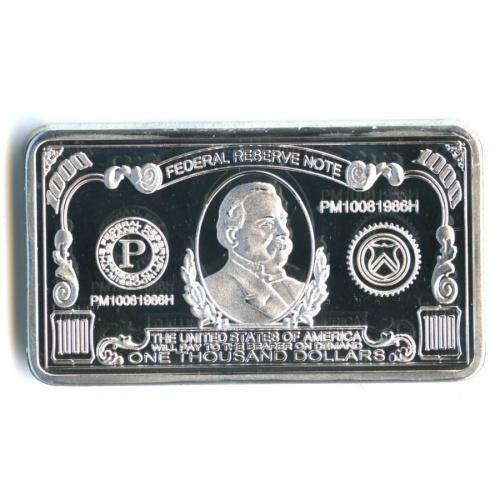 Жетон-слиток «One Thousand Dollars USA» (под серебро)