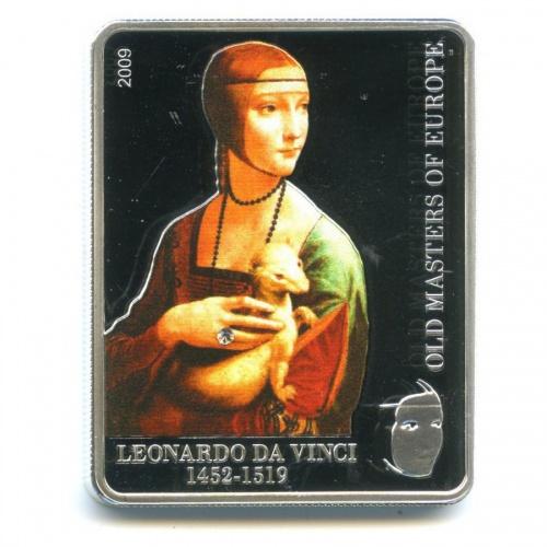 5 долларов - Работы художника Леонардо даВинчи, Острова Кука (в цвете) 2009 года