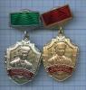 Набор знаков «Отличник погранслужбы» (1-я степень, 2-я степень) (Россия)