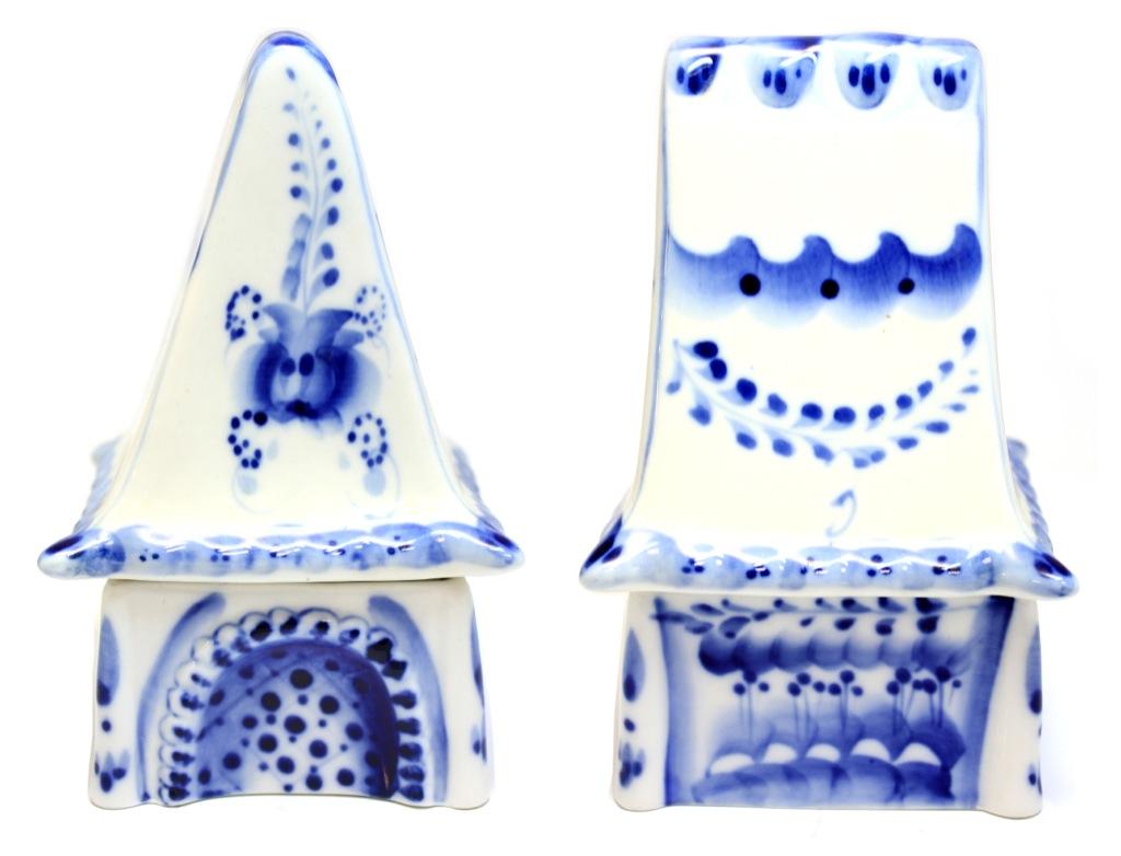 Шкатулка (гжель, 14×8,5 см) (Россия)