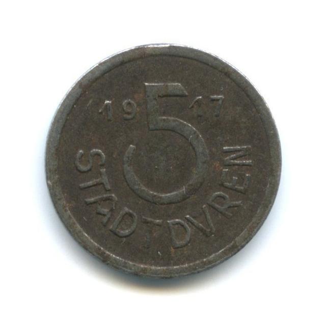5 пфеннигов, Дюрен (нотгельд) 1917 года (Германия)