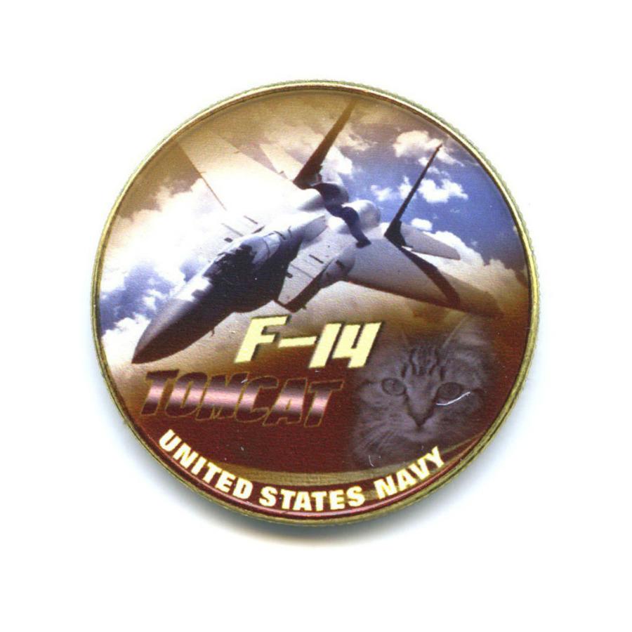Жетон «F-14 - United States Navy» (вцвете, под золото)