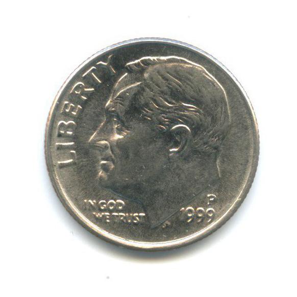 10 центов (дайм) 1999 года P (США)