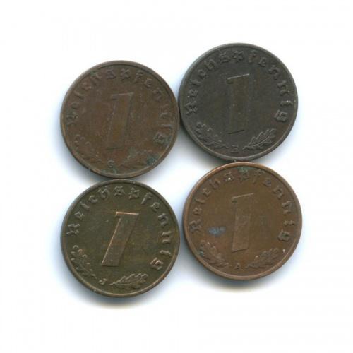 Набор монет 1 рейхспфенниг 1937-1940 (Германия (Третий рейх))